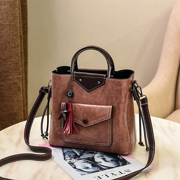 Details: Material Faux Leather Color Black, Yellow, Pink, Green, Red Weight 700g Length 25cm (9.84'') Height 22cm (8.66'') Width 11cm (4.33'') Handle Height 7cm(2.76'') Strap Length Strap:65cm(25.59'')-120cm (47.24'') Pattern Solid Inner Pocket Main Pocke #handbag