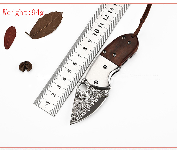 LAOTIE Damascus Steel Blade Pocket Folding Knife Outdoor Camping Survival Tool Fishing Tyer Tool