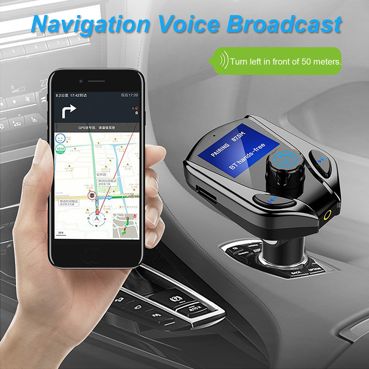 X8 bluetooth Handsfree Wireless Auto Car FM Transmitter MP3 Player Dual USB Charger