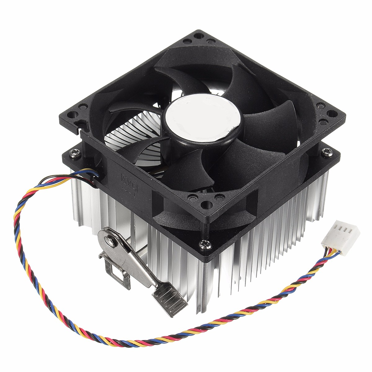4PIN 12V Socket PWM 7 Fan Computer CPU Cooler Aluminium Heat Sink AMD Copper Core