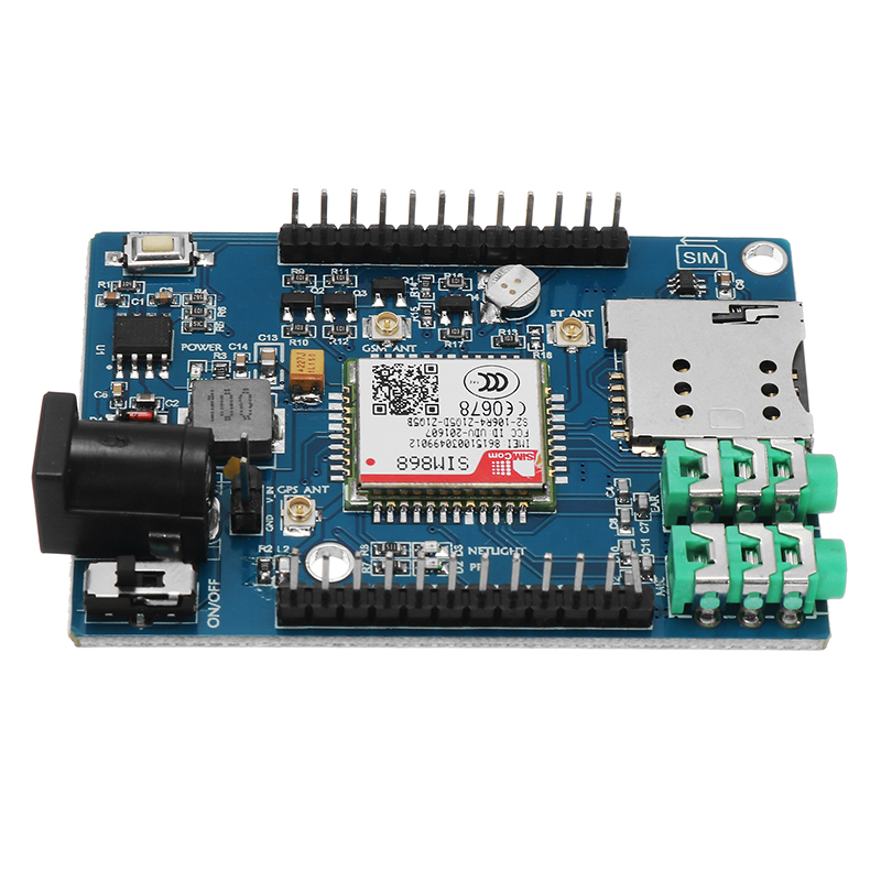 SIM868 GSM GPRS GPS 3 In 1 Module With Antenna For Arduino 51 STM32 Support Voice Short Message TTS DTMF