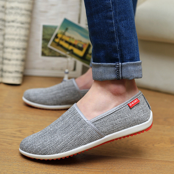 Men Shoes Cotton Blend Low Top Slip On Casual Outdoor Comfortable Flats