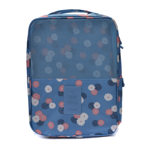 Portable Zipper Grid Shoes Storage Bags Travel Waterproof Floral Organizer Bags