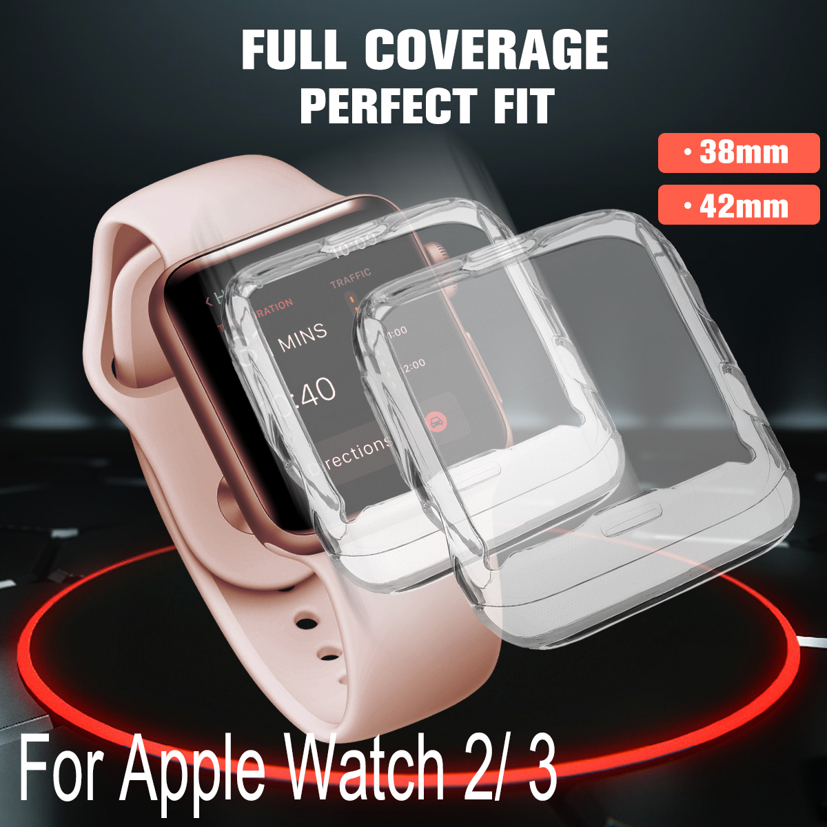 Clear Tpu Full Cover Case Screen Protector For Samsung Galaxy Watch 42 Mm Cell Phones & Accessories