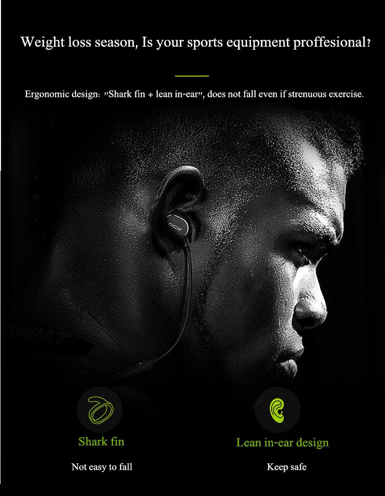 Xiaomi QCY QY19 Phantom Sport An-sweat Wireless bluetooth 4.1 Headphone Earphone With Mic