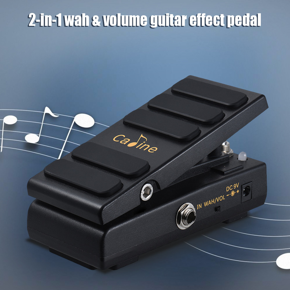 Caline CP-31 DC 9V Black Hot Spice Wah Pedal Switchable 2 in 1 Guitar Effects Pedal