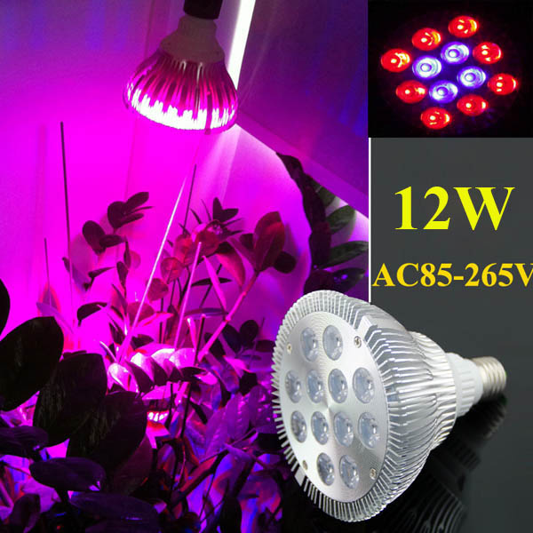12W E27 8 Red 4 Blue Garden Plant Grow LED Bulb Greenhouse Plant Seedling Growth Light