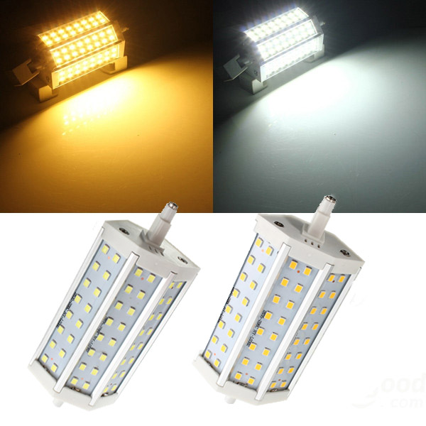 R7S Non-dimmable LED Bulb 8W 118MM SMD 2835 48 Pure White/Warm White Corn Light Lamp AC 85-265V