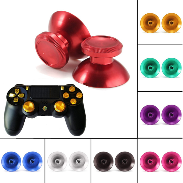 A Pair Of Metal Bullet Buttons For Play Station 4 PS4 Controller Multicolor