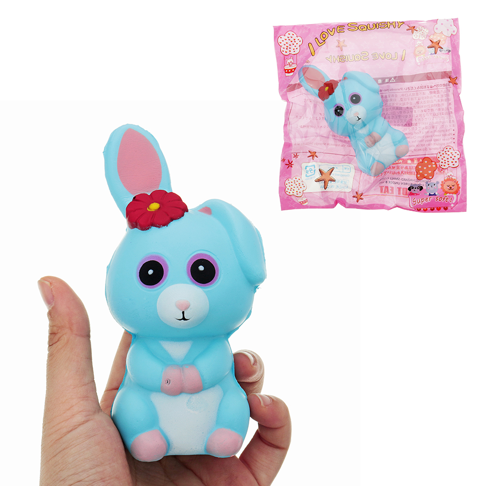 Long Ears Rabbit Squishy 12*6*6.5CM Slow Rising With Pa