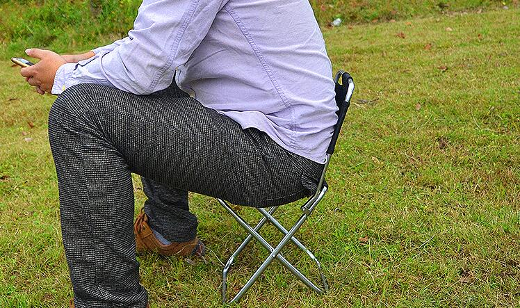 Outdoor Portable Chair Lightweight Folding Chair Camping Hiking Fishing Picnic BBQ Stool