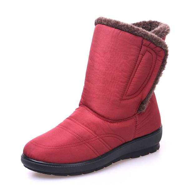 Large Size Magic Stick Waterproof Mid Calf Warm Snow Boots