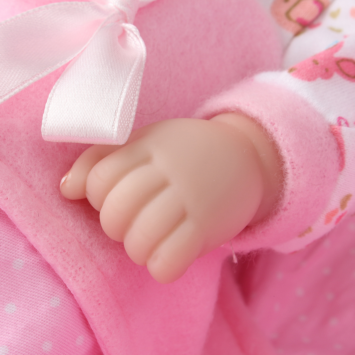 11inch Reborn Baby Doll Girl Silicone Handmade Lifelike Baby Dolls Play House Bath Toys
