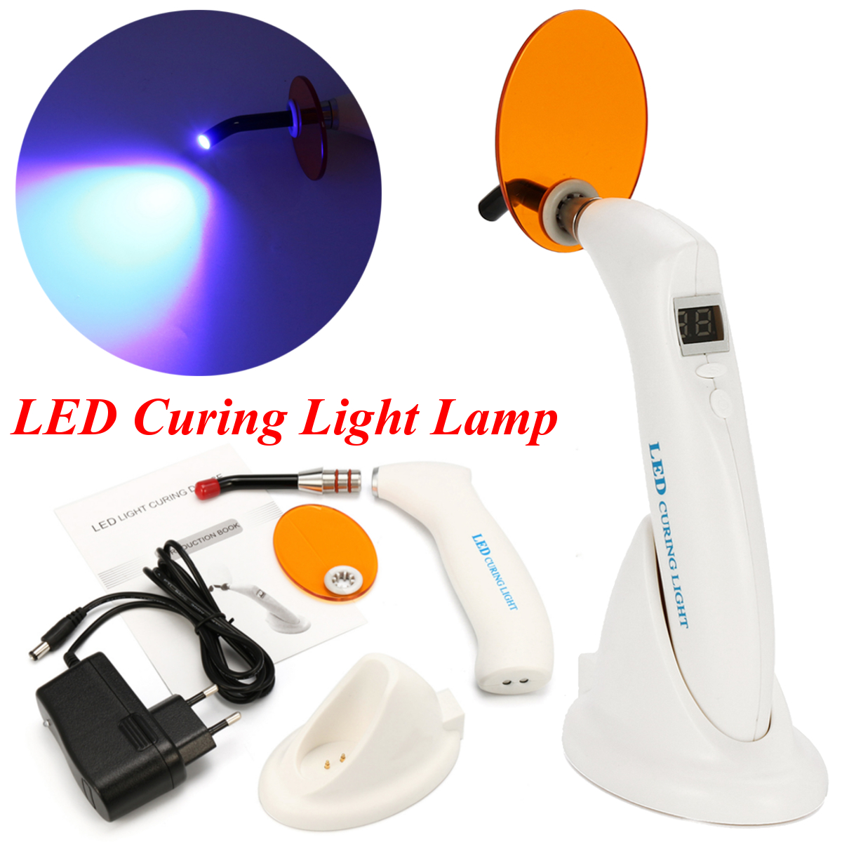 LED Light Cure Lamp LED Curing Light Wireless Cure Lamp