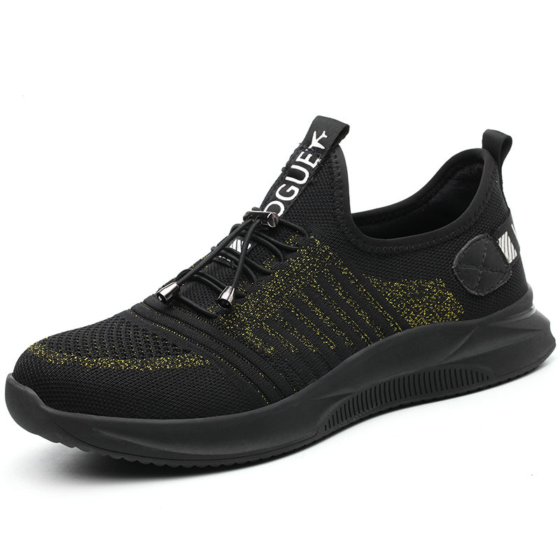 Breathable Mesh Steel Toe Slip Resistant Soft Safety Shoes