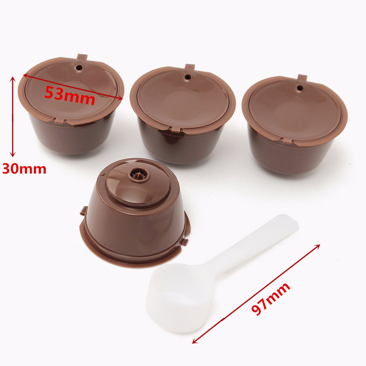 4Pcs Reusable Coffee Capsules Coffee Filter for Dolce Gusto Machine