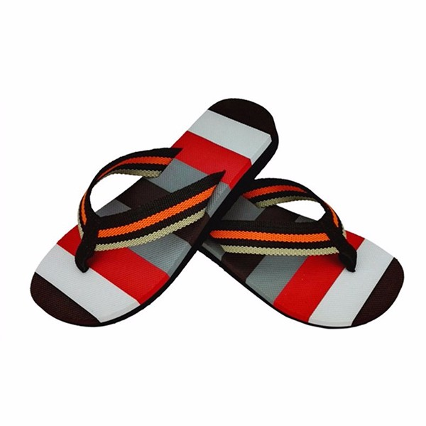 Men Fashion Summer Striped Beach Flip Flops Home Thong Slipper Casual Flats Shoes