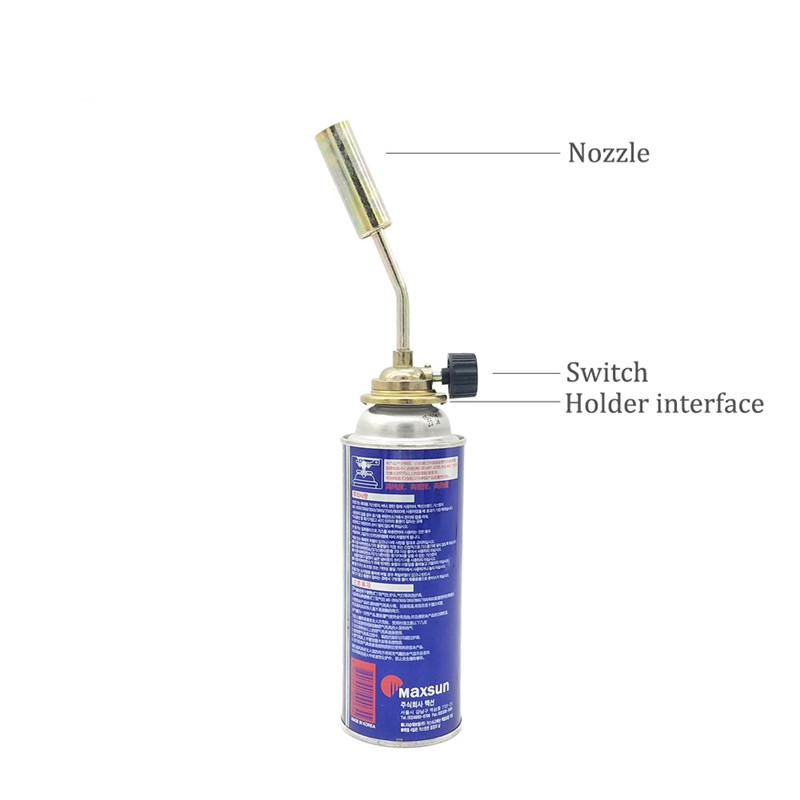 Gas Torch Metal Flame Burner Gun Fire Lighter for Outdoor BBQ Camping Picnic Flame Gas Spraying Gun