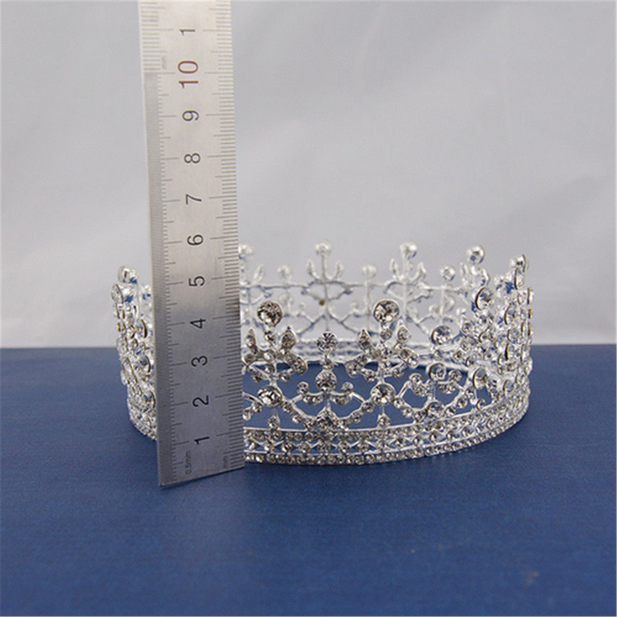 Bride Crystal Rhinestone Crown Wedding Bridal Headbrand Queen Tiara Hair Accessories