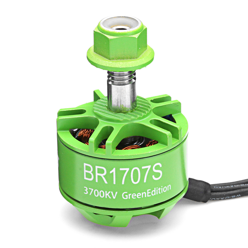 4X Racerstar 1707 BR1707S Green Edition 3700KV 2-3S Brushless Motor For RC Drone FPV Racing Frame