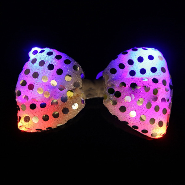 Christmas LED Luminous NeckTie Fashion Flashing Bow Tie Party Wedding Dancing Stage Glowing Light