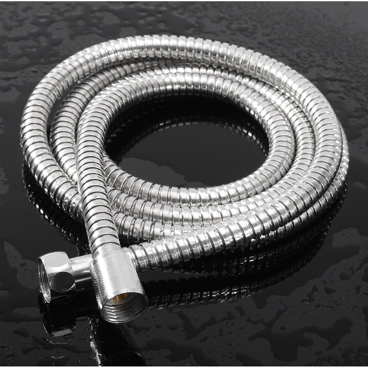 1m/1.5m/2m Stainless Steel Bathroom Flexible Shower Hose Water Head Pipe G1/2 Thread Interface