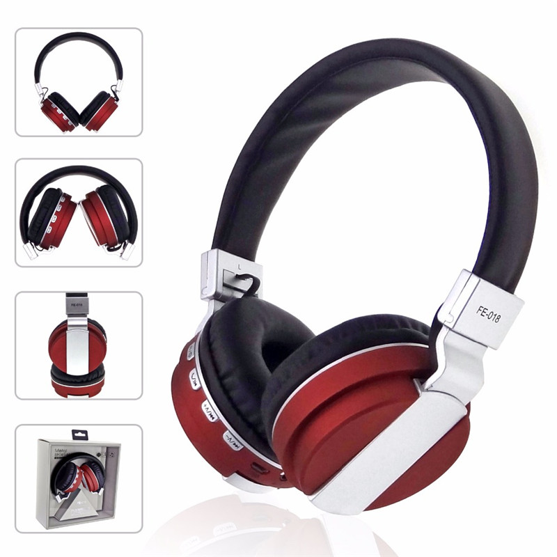 FE-018 Portable Foldable FM Radio 3.5mm NFC bluetooth Headphone Headset with Mic for Mobile Phone