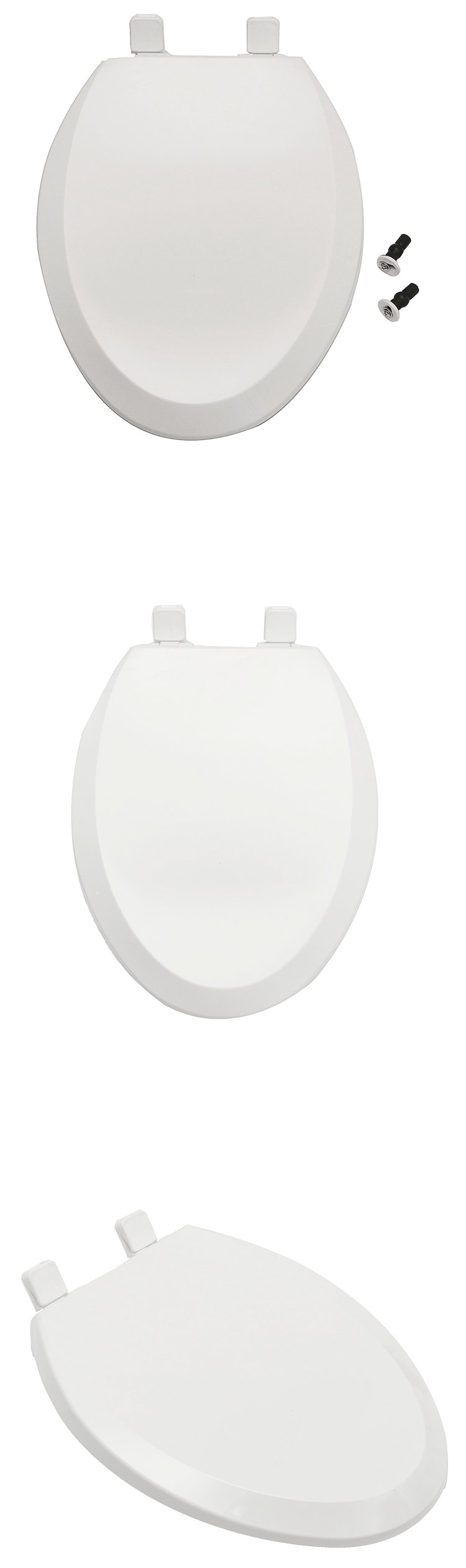 V-shaped Soft Closing Adult Thicker Toilet Seat Cover with Built-in Child Potty Training Seat