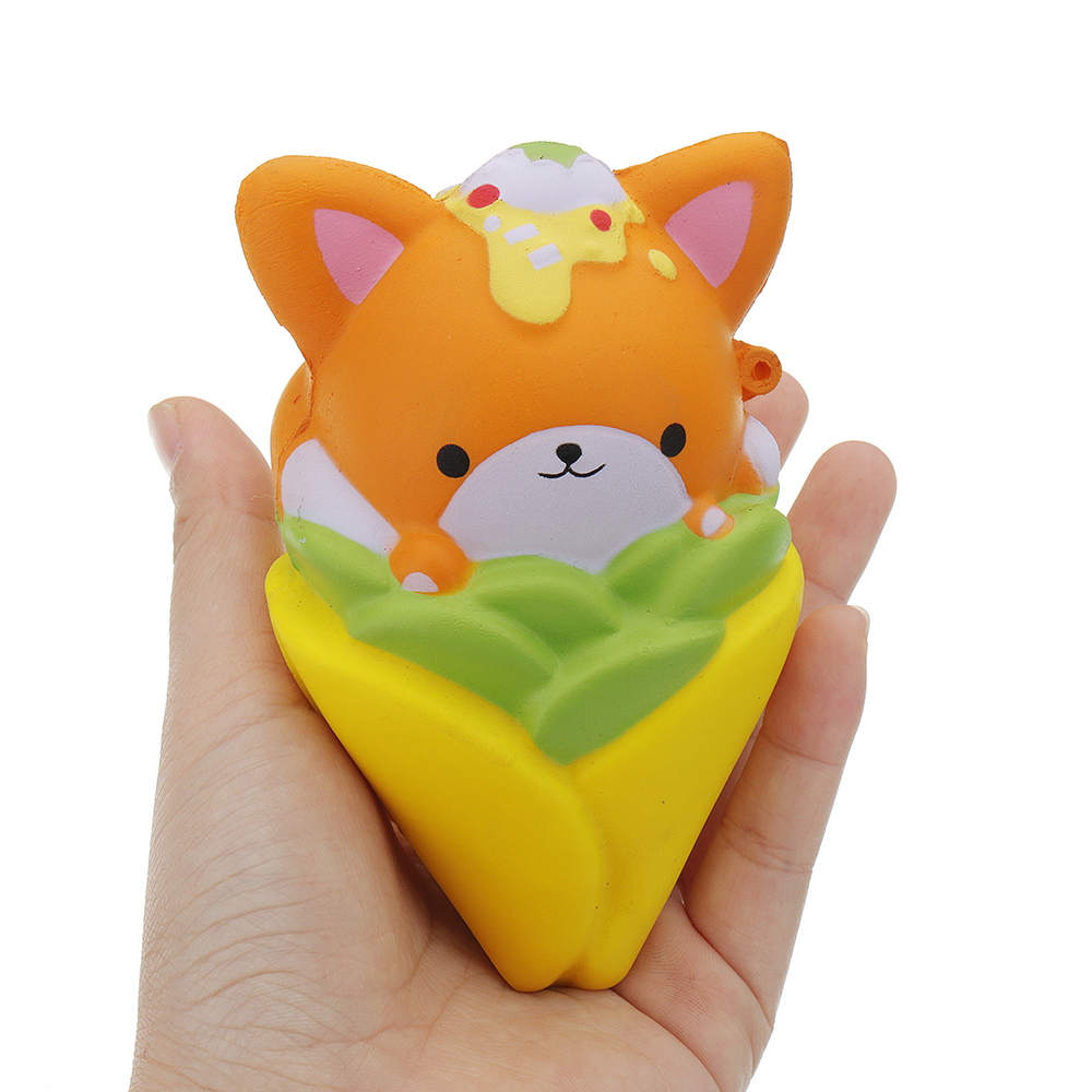 Squishy 11.7cm Corn Animal Kawaii Cute Soft Solw Rising Toy Cartoon Gift Collection With Packing