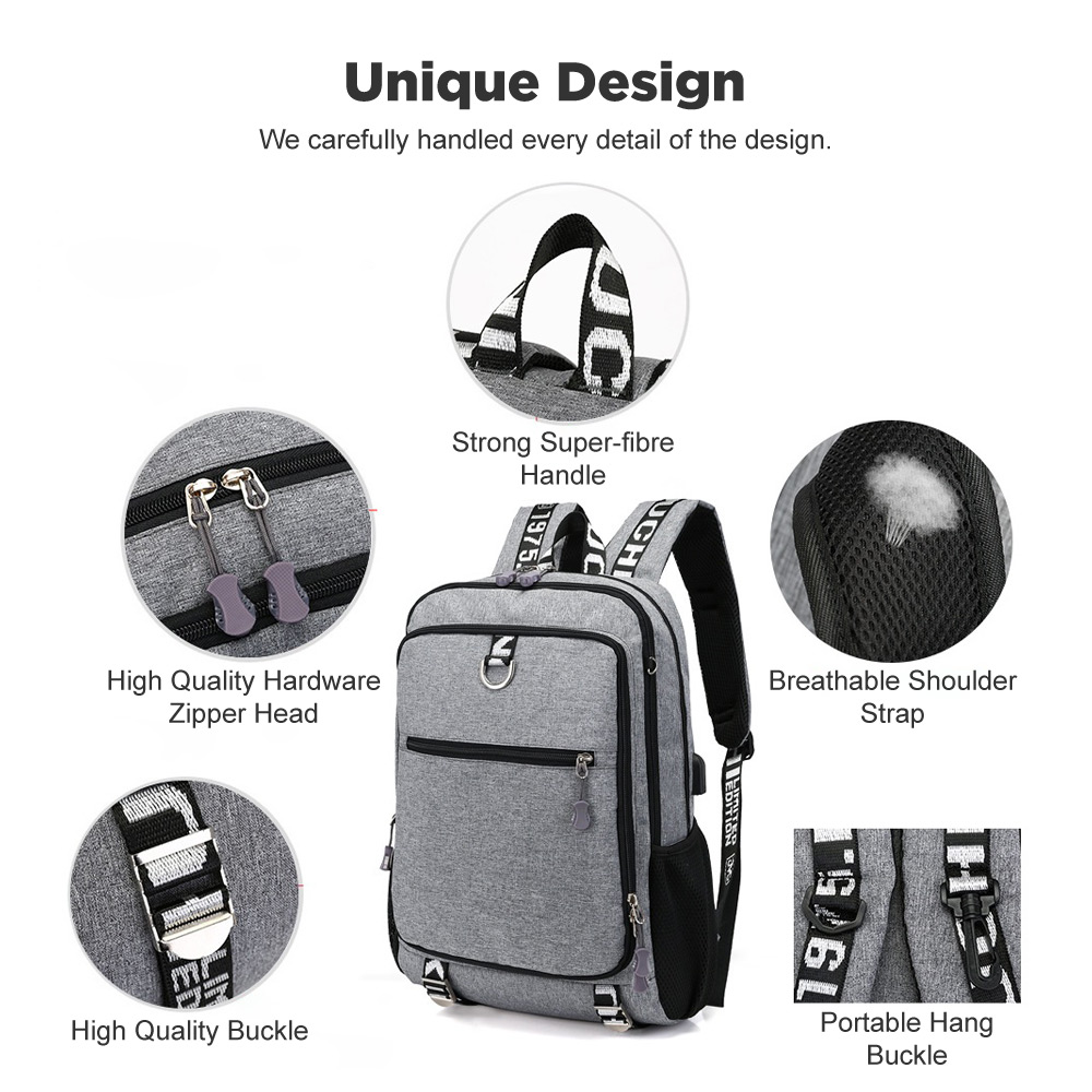 Xmund XD-DY12 16 inch Laptop Bag 17L USB Waterproof Shoulder Bag Casual Student Backpack Camping Travel Climbing