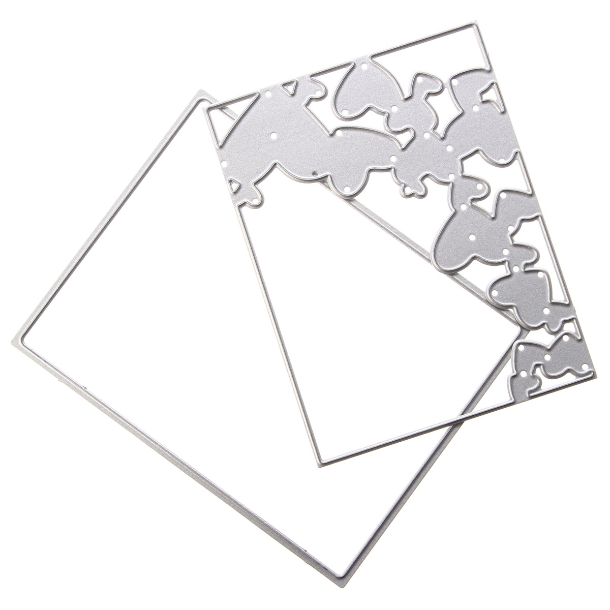 Border Heart Metal Cutting Dies Scrapbook Album Paper Card Embossing Craft