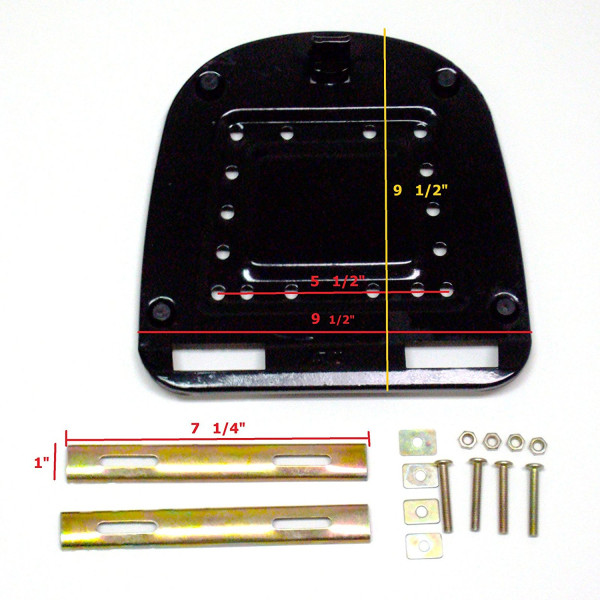 Motorcycle Scooter Luggage Top Box Rear Large Case Black 38 X 42 X 28cm/14.96 X 16.5X11.023in