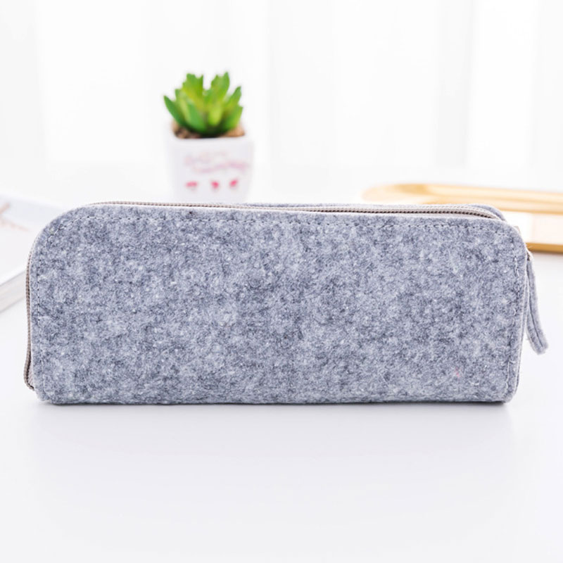 1pcs Felt Pencil Bag Pencil Case School Office Supplies Stationery Pouch Purse Storage Makeup Bags