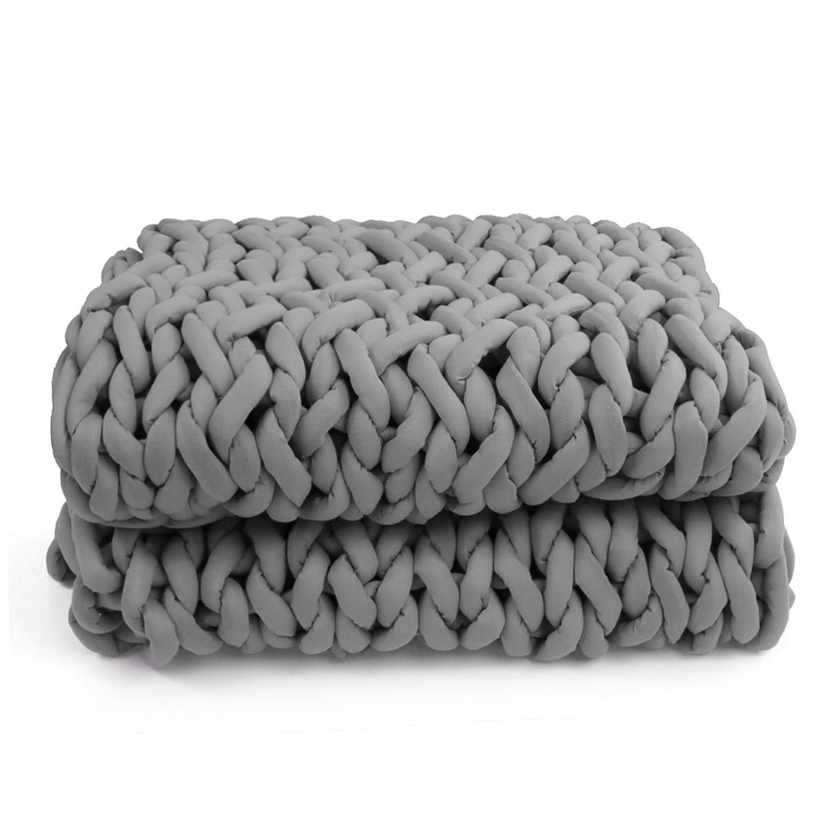 120x150cm Handmade Knitted Blanket Soft Warm Thick Line Cotton Throw Blankets