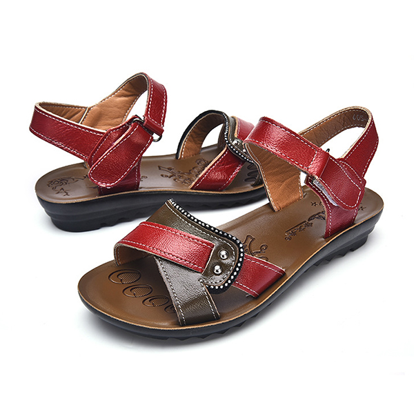 Women Leather Casual Comfy Flat Sandals
