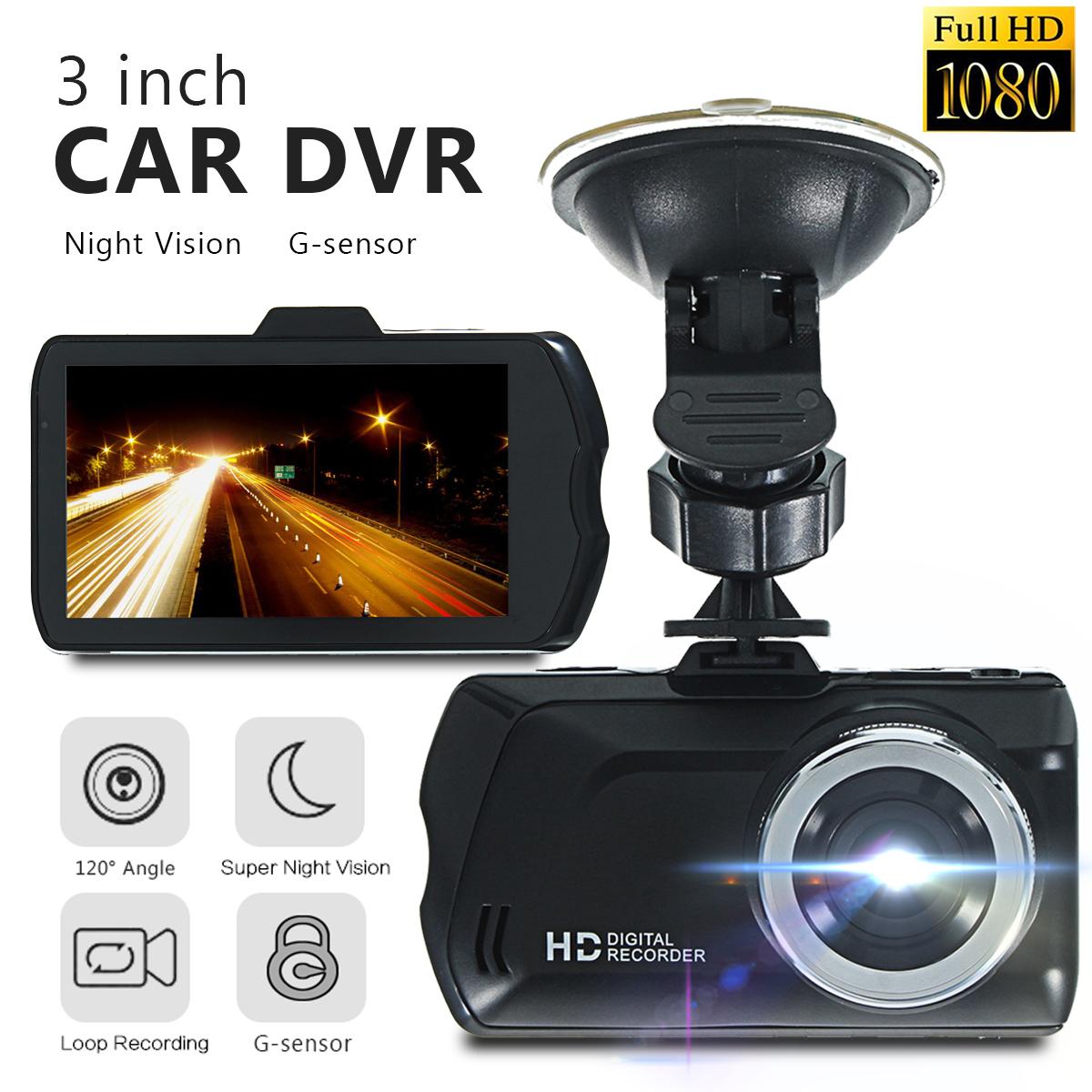 HD 1080P Dash Cam 3 Inch LCD Car Video Recorder DVR Dual ...
