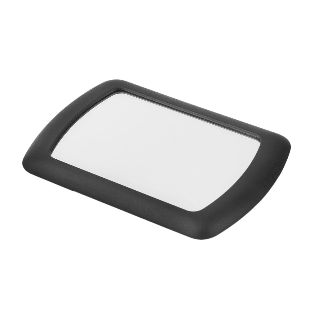 SHUNWEI Car Sun Visor Makeup Mirrors Interior Sun-shading Cosmetic Mirror ABS Black