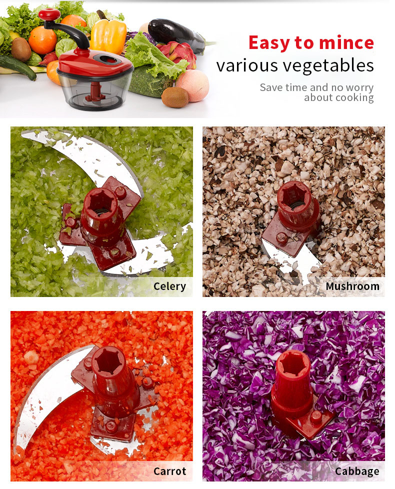 Multifunctional Food Meat Mincer Vegetable Cutter High Speed Fast Cut Stainless Steel Blade Kitchen Tools Egg Mixer Fruit and Vegetable Mixer Machine