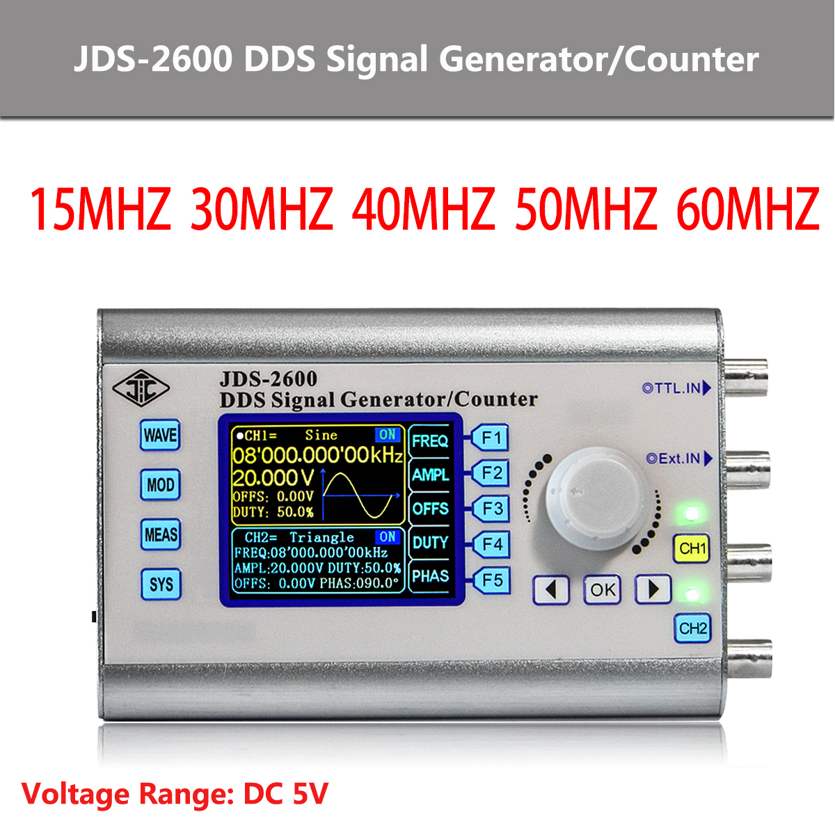 Jds 2600 2 Channel Dds Signal Generator Counter Arbitrary Wave More Triangle Generators Hobby Circuits Function 266msa S