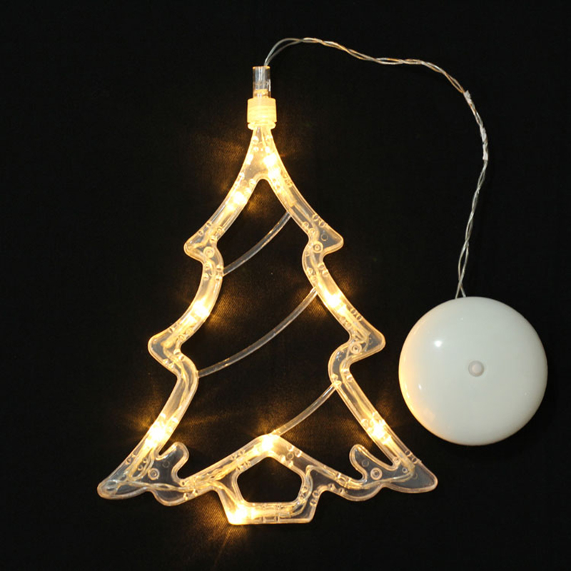 Christmas Window Pendant LED Light Glass Window Sucker Lamp Home Christmas Decor Battery Operated