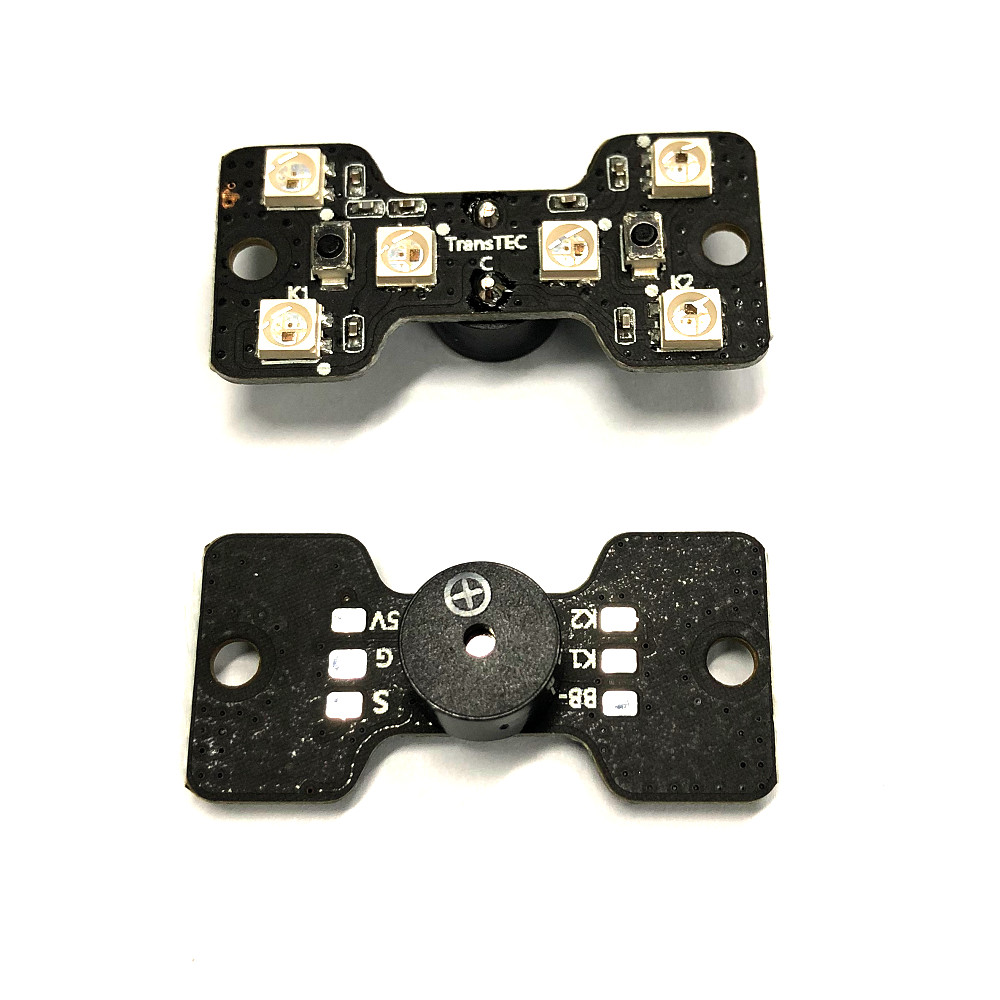 8 Pcs TransTEC 5 LED Strip Light MUC Controller Board & Tail LED Light with Loud Buzzer for RC Drone