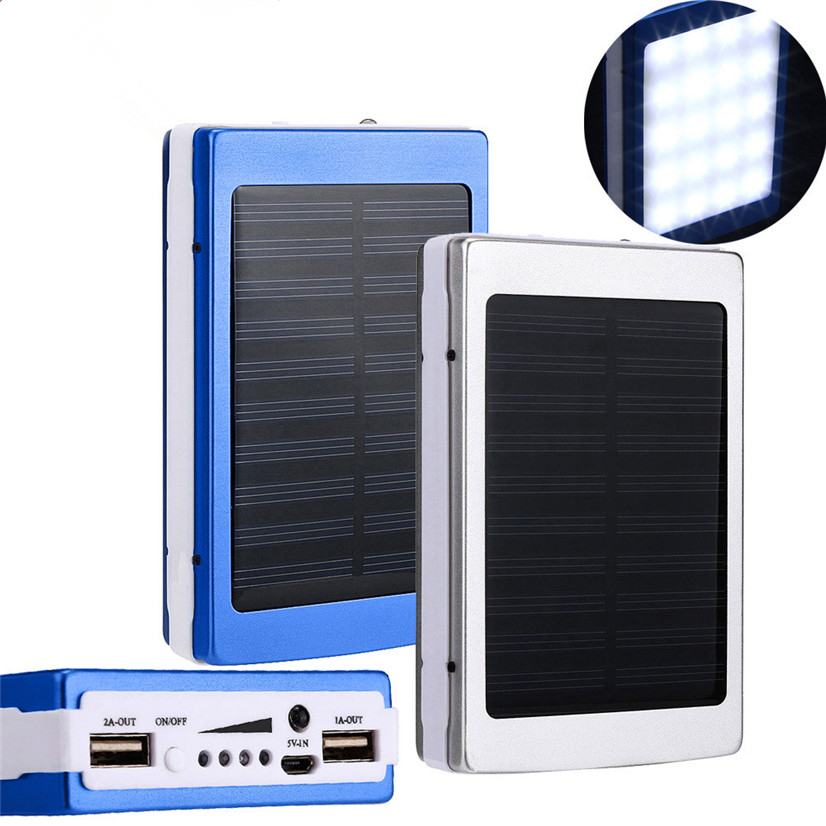 Bakeey 5x18650 Dual USB Solar Energy Camping Flashlight 20000mAh Battery  Case Power Bank Box COD 561cd9b9d450