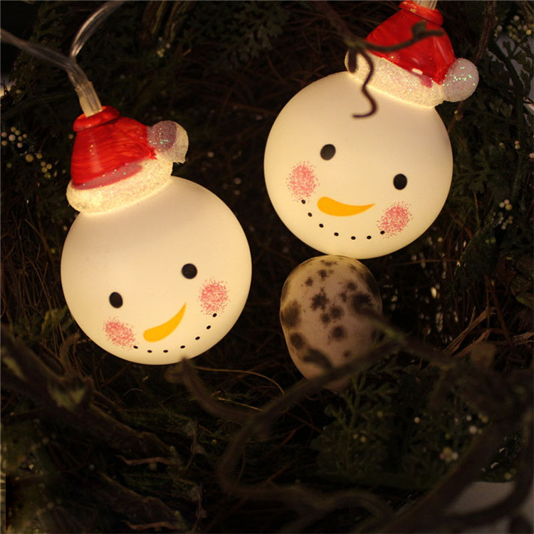 1.2M 10 LED Fairy String Lights Lovely Snowman Battery Operated Decoration for Christmas Garland