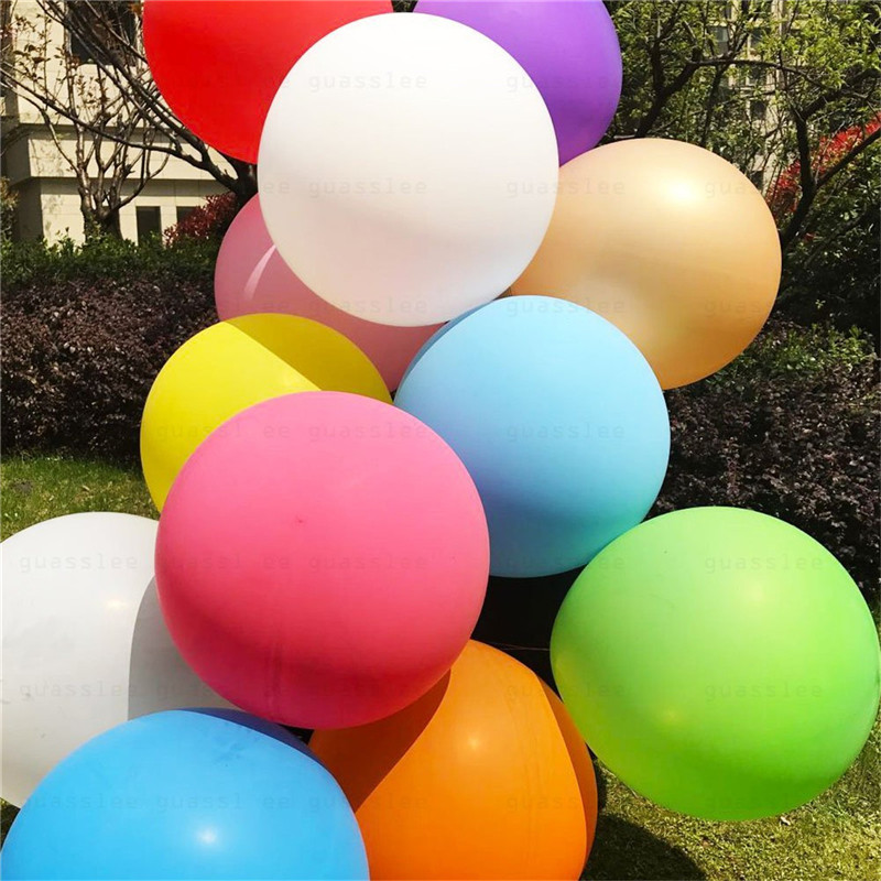 6 Pcs Per Set 36 Inch 90cm Large Giant Oval Latex Big Inflatable Balloon Wedding Party Decoration
