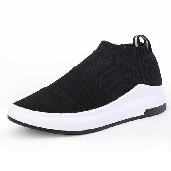 Women Weave Stripe High Top Platform Casual Breathable Sport Shoes