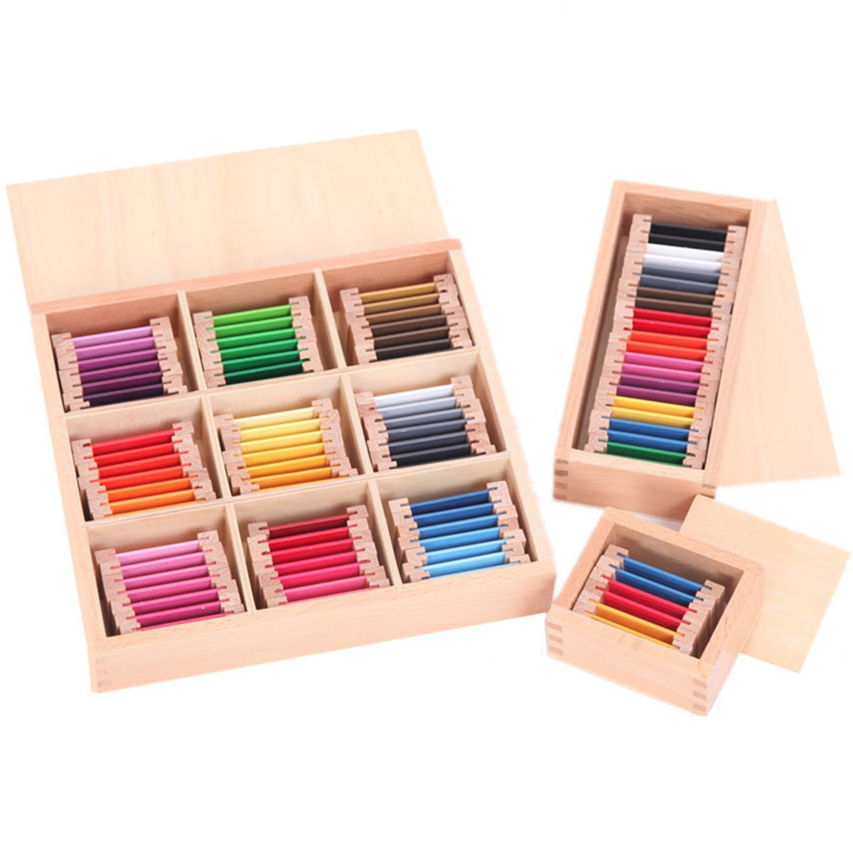 Wooden Montessori Sensorial Teaching Tool Color Tablet Educational School Learning Toy Gift