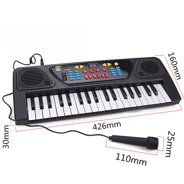 37 Keys Electronic Keyboard Piano Musical Toy Gift w/Mic Records
