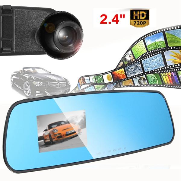 2.4 inch Car DVR Mirror Monitor Recorder Camera Video Dash Cam Rear View HD 720P