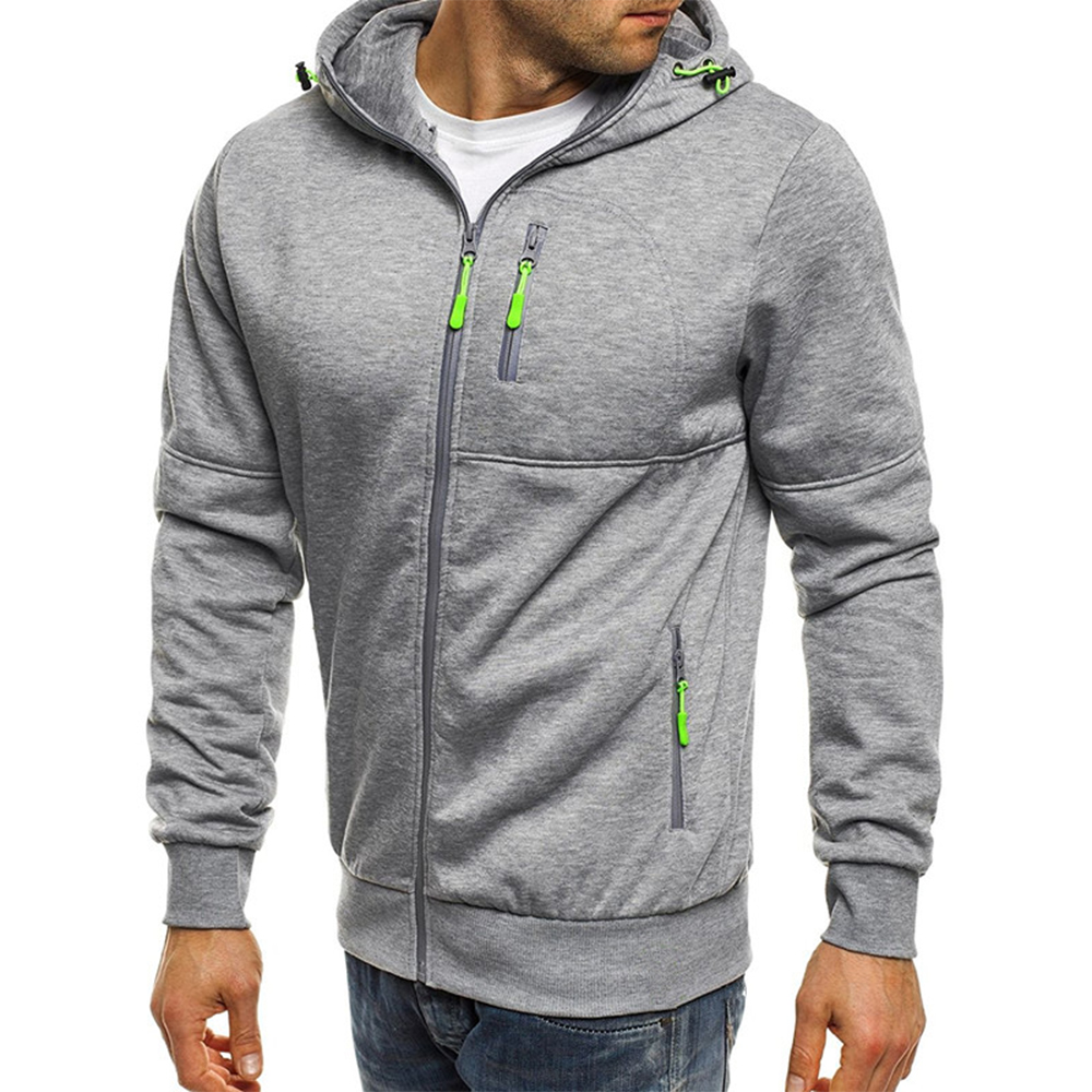 Men's Cotton Fashion Zipper Fit Casual Sweatshirts