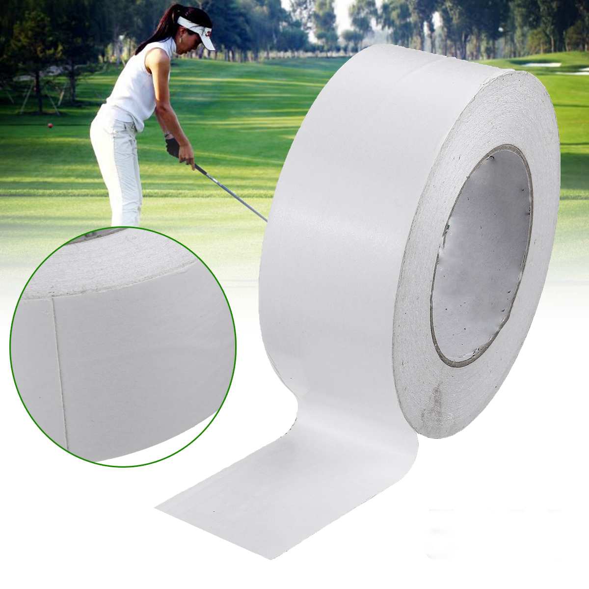 1 Roll 50 Meters Double Sided Grip Tape Golf Clubs Tools Accessories